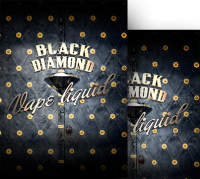Legal highs Black Diamond logo with gold and black details C Liquid