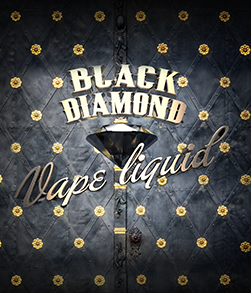 Logo with black background for c vape liquid named Black Diamond