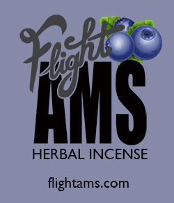 Light blue logo with blueberries for legal synthetic marijuana in Europe